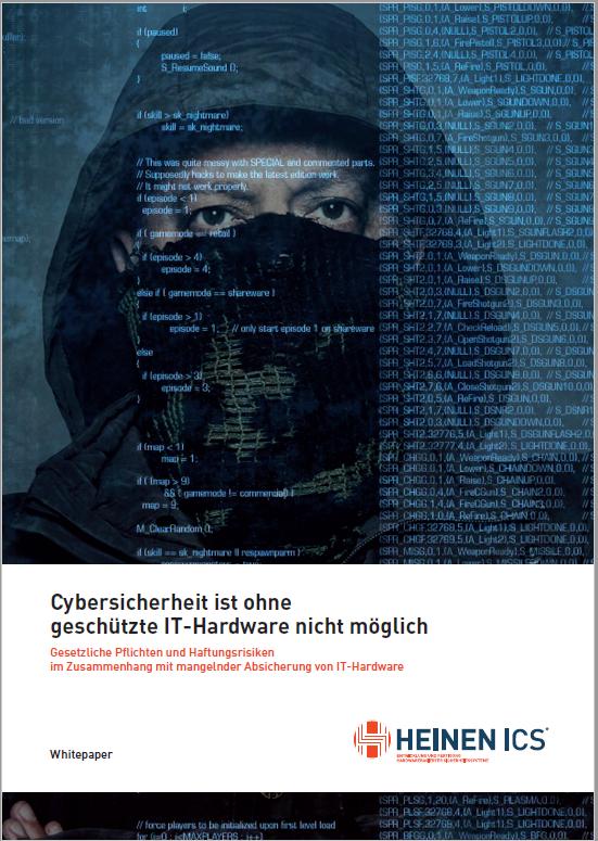 Whitepaper Haftungsrisiko bei ungeschützter IT-Hardware Cover